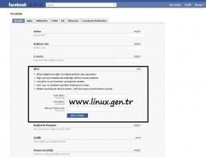facebook şifre degistirme